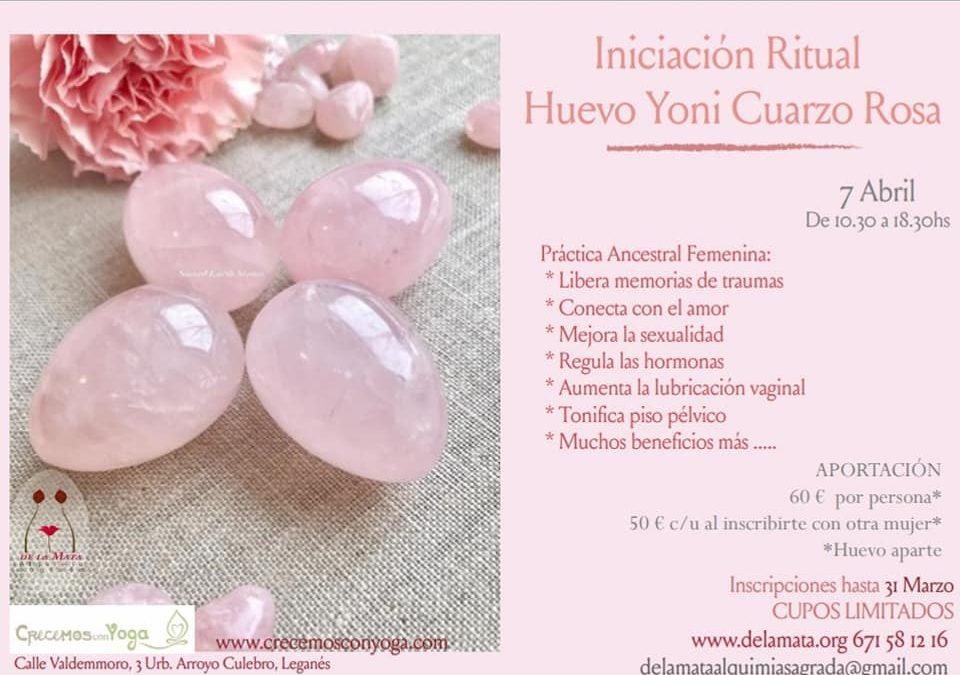 Taller de huevo Cuarzo Rosa