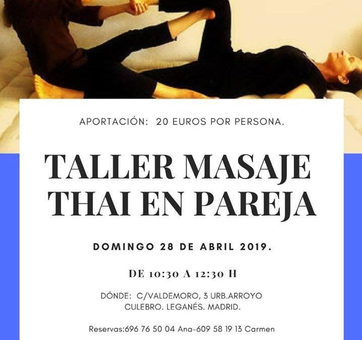 Taller de masaje thai por parejas