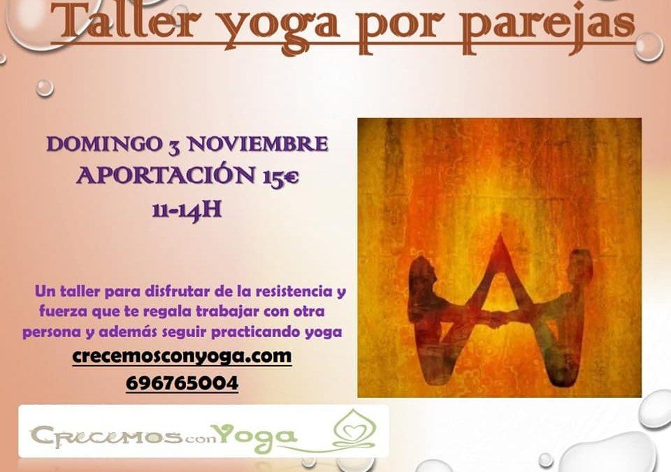 Taller de yoga por parejas